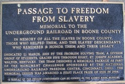 Passage To Freedom From Slavery Marker image. Click for full size.