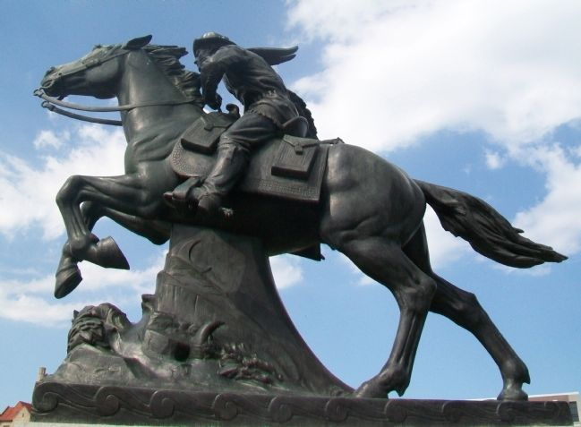 The Pony Express Monument Statue image. Click for full size.