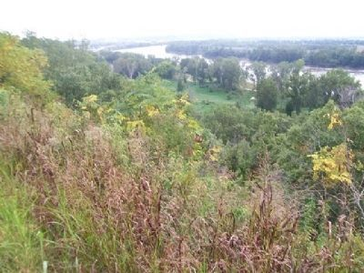 View South Along Missouri River From Wyeth Hill Toward Downtown St. Joseph image. Click for full size.