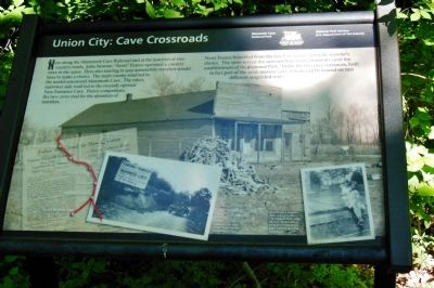 Union City: Cave Crossroads Marker image. Click for full size.