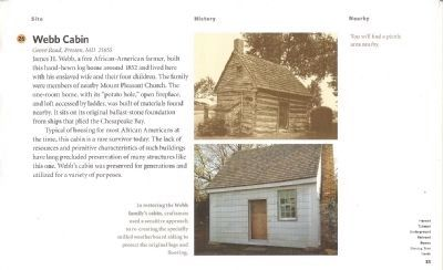 Driving Tour Guide-Webb Cabin-Living Free Marker image. Click for full size.