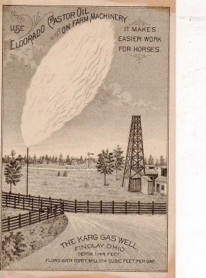 The Great Karg Gas Well January 20 1886 Marker image. Click for full size.