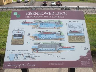 Eisenhower Lock Marker image. Click for full size.