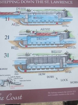 Center Detail - Eisenhower Lock Marker image. Click for full size.