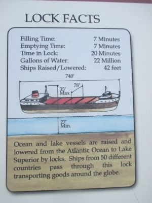 Right Detail - Eisenhower Lock Marker image. Click for full size.
