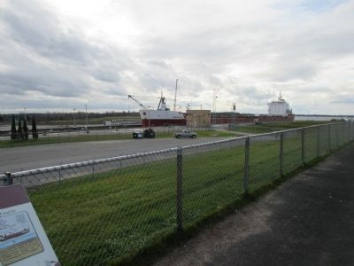 View Towards Southwest - Eisenhower Lock Marker image. Click for full size.