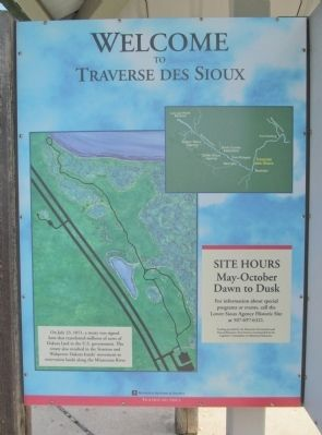 Welcome to Traverse des Sioux Marker image. Click for full size.