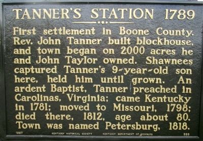 Tanner's Station 1789 Marker image. Click for full size.