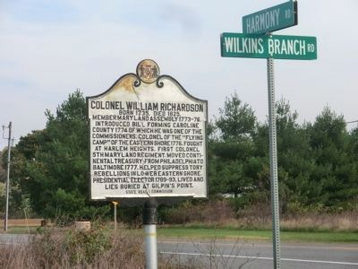 Col. William Richardson Marker image. Click for full size.