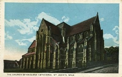 <i> The Church of England Cathedral, St. John&#39;s, Nfld</i> image. Click for full size.