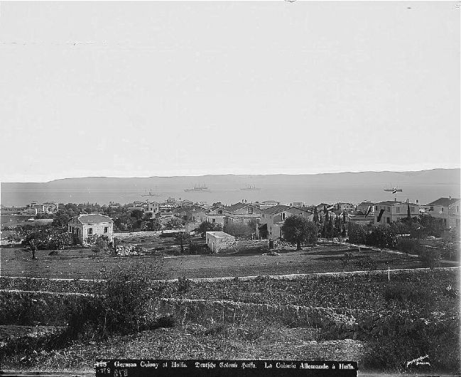 <i>German Colony at Haifa</i> image. Click for full size.