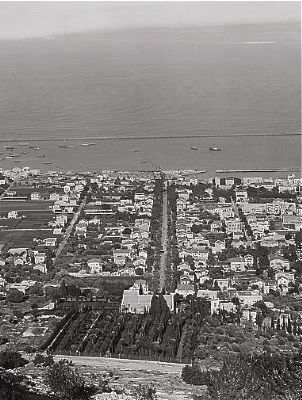 <i> Haifa & environs. Haifa. The new section. (Showing the Tomb of Abbas Effendi)</i> image. Click for full size.