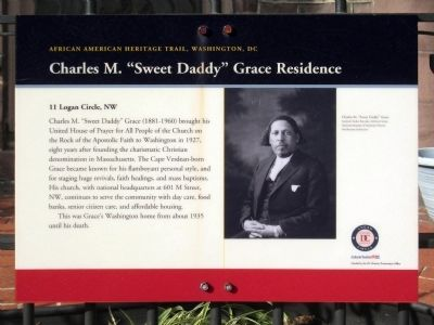 "Charles M. ""Sweet Daddy"" Grace Residence Marker image. Click for full size."
