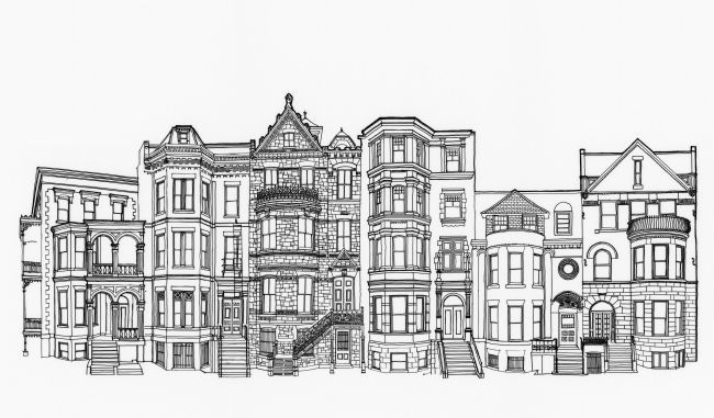 Four - Nine Logan Circle, Composite Drawing image. Click for full size.