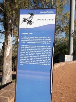 Cerro de la Gloria Marker image. Click for full size.