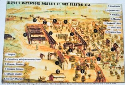 Watercolor Portrait of Original Fort in 1853 image. Click for full size.