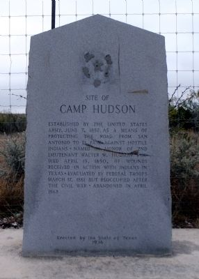 Site of Camp Hudson Marker image. Click for full size.
