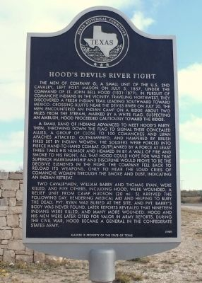 Hood's Devils River Fight Marker image. Click for full size.