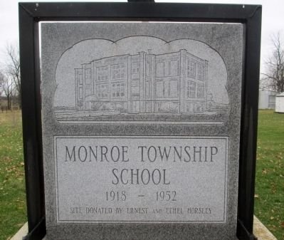 Monroe Township School Marker image. Click for full size.