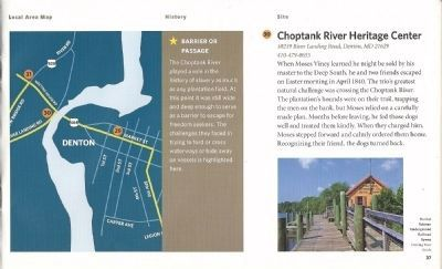 Driving Tour Guide-Choptank River Heritage Center-Steal Away by River Marker image. Click for full size.