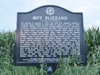 1873 Blizzard Marker image. Click for full size.