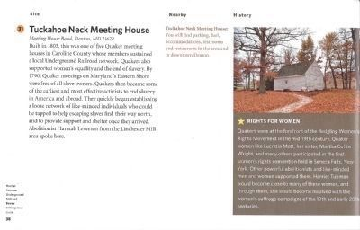 Driving Tour Guide-Tuckahoe Neck Meeting House image. Click for full size.