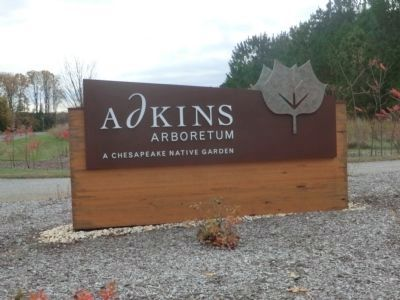 Adkins Arboretum-Sign at the entrance image. Click for full size.