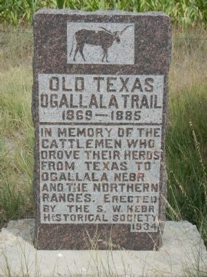 Old Texas Ogallala Trail Marker image. Click for full size.