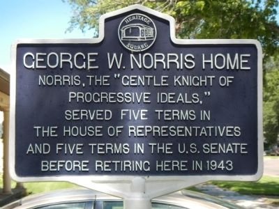 George W. Norris Home Marker image. Click for full size.