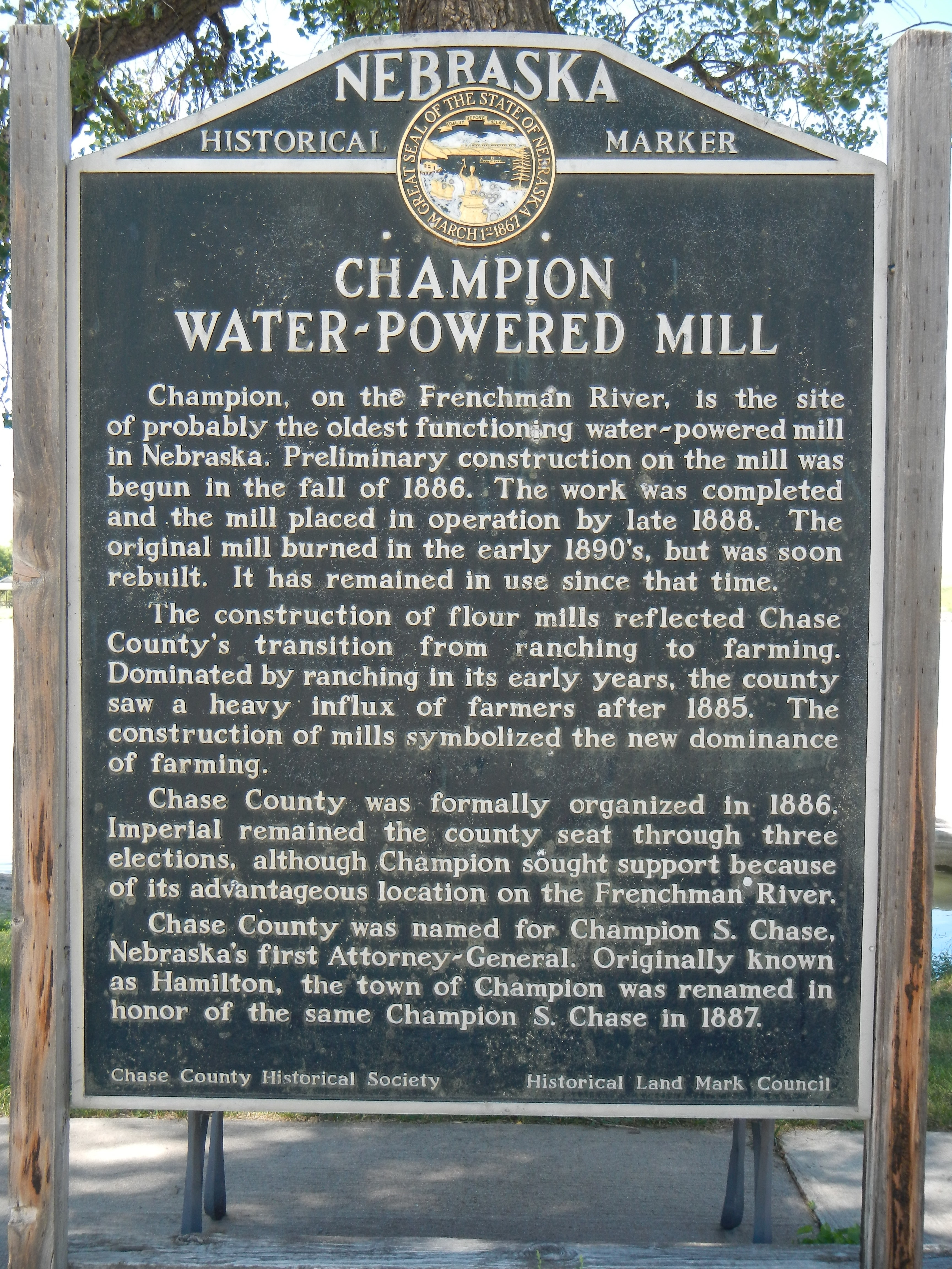 Champion Water-powered Mill Marker