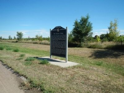 The Texas Trail Marker image. Click for full size.
