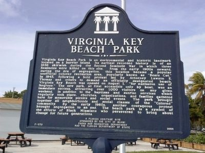 Virginia Key Beach Park Marker image. Click for full size.