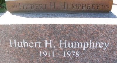 Hubert H. Humphrey Statue Base image. Click for full size.