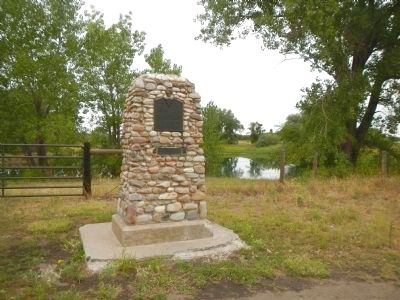 Mormon Pioneer Camp Marker image. Click for full size.