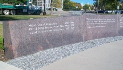 Hubert H. Humphrey Memorial Panel image. Click for full size.