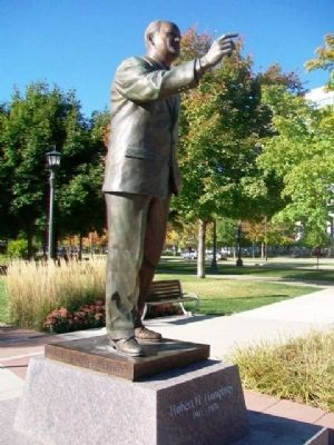 Hubert H. Humphrey Statue image. Click for full size.