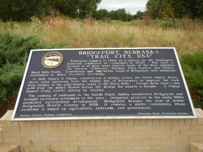 Bridgeport, Nebraska Marker image. Click for full size.