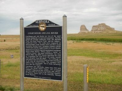 Courthouse and Jail Rocks Marker image. Click for full size.