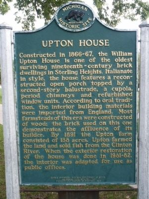 Upton House Marker image. Click for full size.