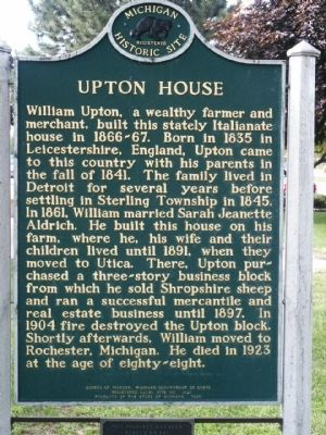 Upton House Marker - Side 2 image. Click for full size.