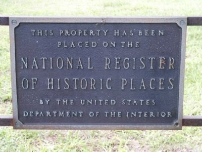 National Register of Historic Places Sign image. Click for full size.
