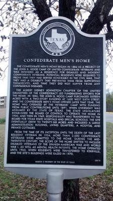 Confederate Men's Home Marker image. Click for full size.