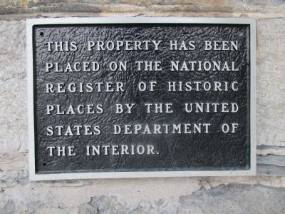 Historic Register Plaque image. Click for full size.