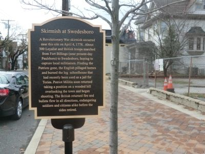 Skirmish at Swedesboro Marker image. Click for full size.