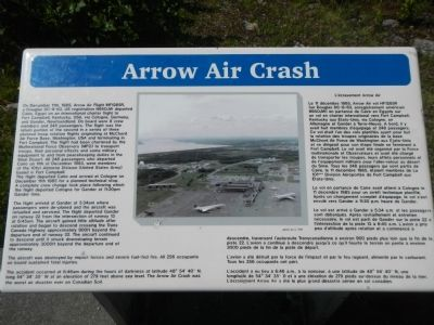 Arrow Air Crash Marker image. Click for full size.