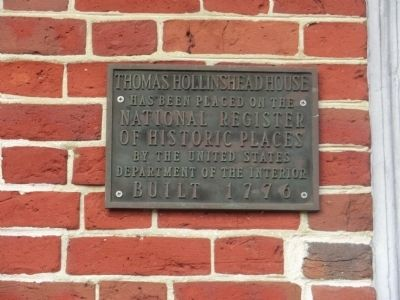 Thomas Hollinshead House Marker image. Click for full size.