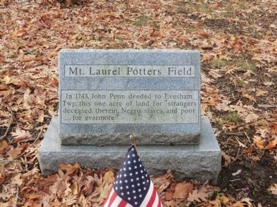 Mt. Laurel Potters Field Marker image. Click for full size.