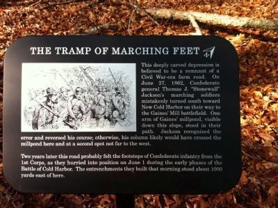 The Tramp of Marching Feet Marker image. Click for full size.