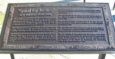 """Spiral for Justice"" Roy Wilkins Memorial Marker image. Click for full size."