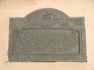 Scott's Bluff Pony Express Station Marker image. Click for full size.